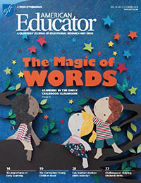 American Educator Summer 2014 cover
